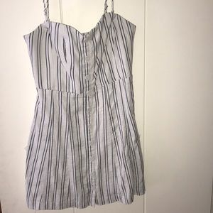 Never worn URBAN OUTFITTERS blue and white dress